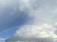 とてもきれいな虹がでました♪